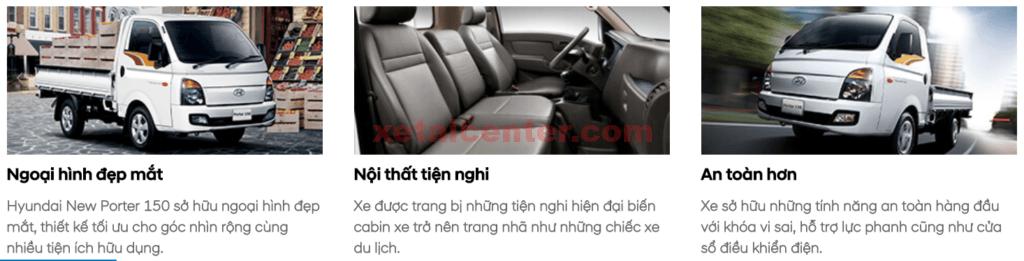 ngoại thất xe tải hyundai new mighty 150
