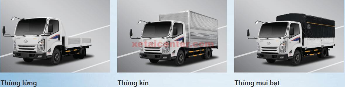các phiên bản đóng thùng xe tải hyundai iz65