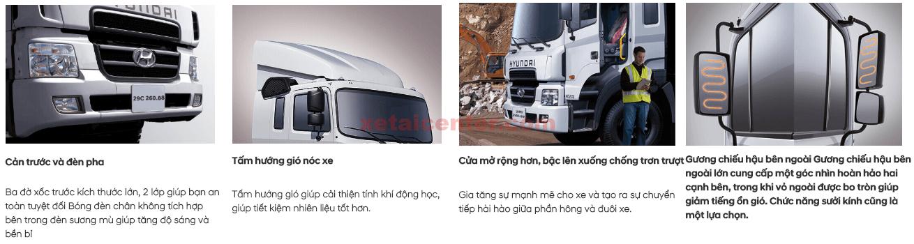 ngoại thất xe tải hyundai hd320