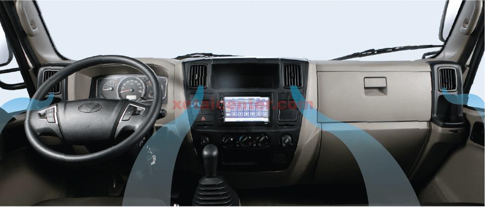 nội thất xe tải hyundai iz65