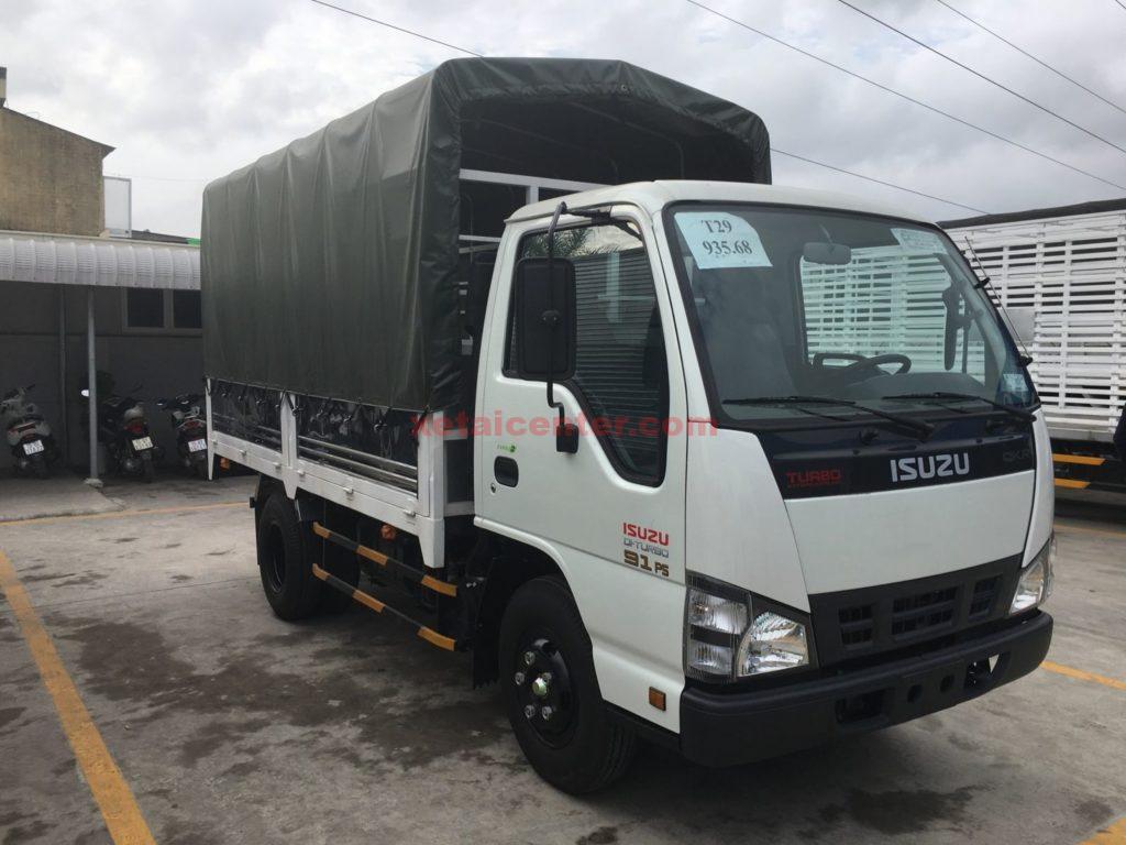 xe tải isuzu 2.5 tấn thùng mui bạt