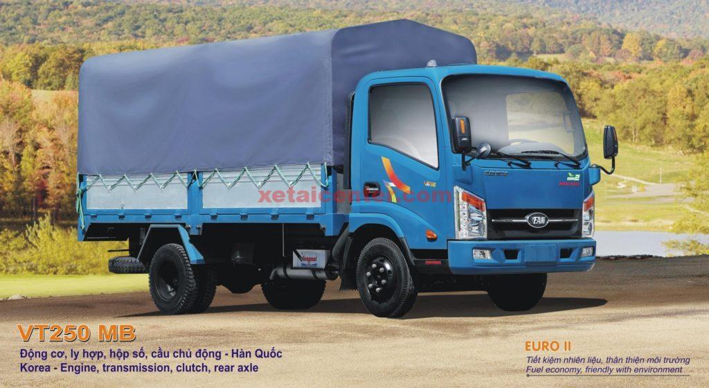 xe tải veam vt250 thùng mui bạt