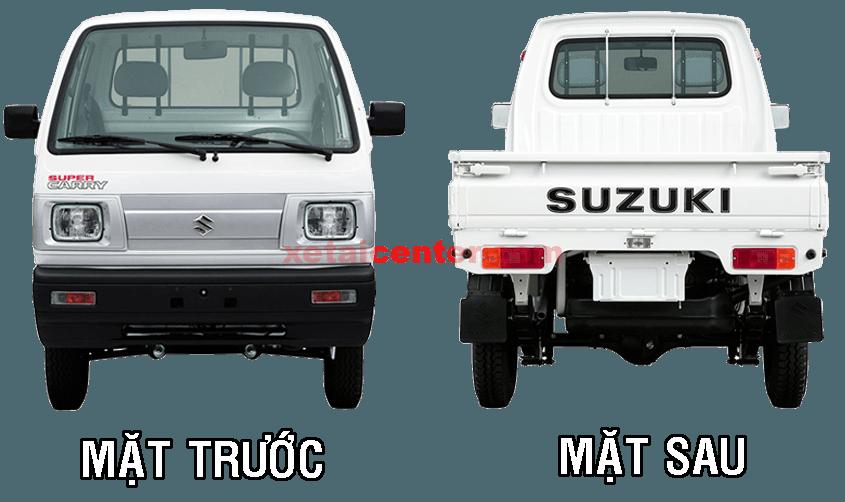 Thiết kế bên ngoài xe tải suzuki 500kg