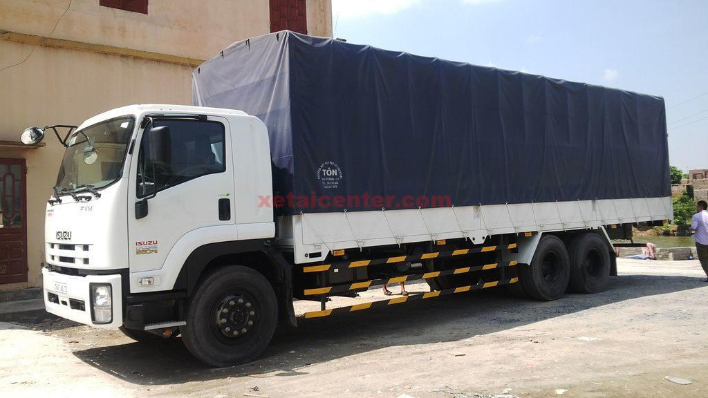 xe tải isuzu thùng mui bạt