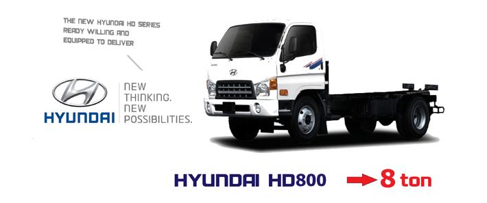 ngoại thất xe tải hyundai hd800