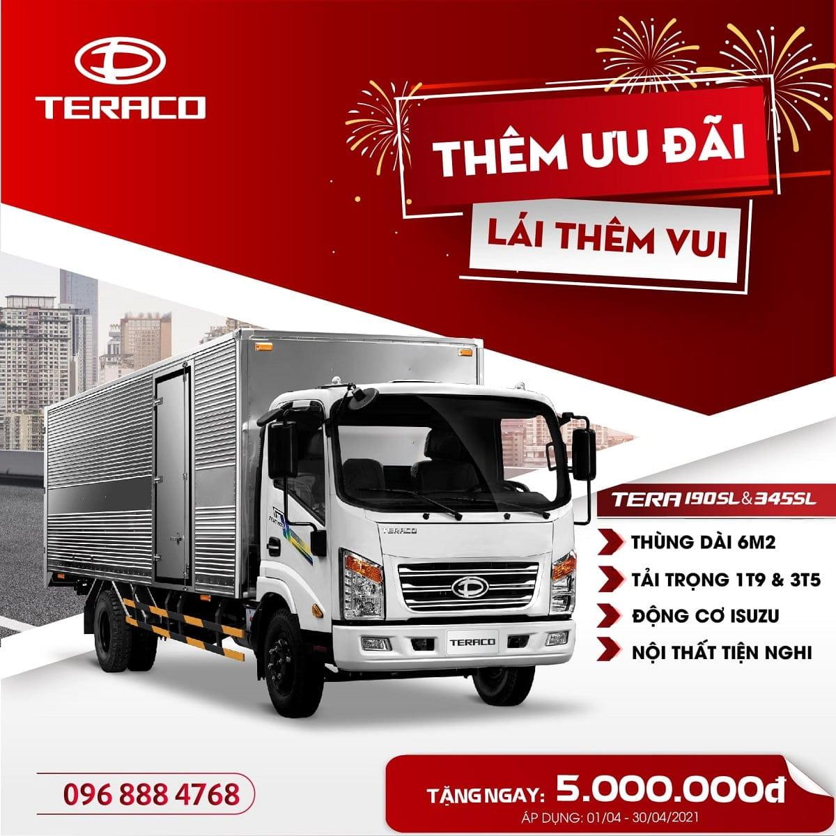 xe tải Teraco 190SL và xe tải Teraco 345SL